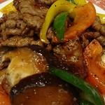 京華園 - 牛肉の黒こしょう炒め
