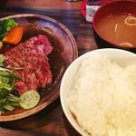Red Rock - ステーキ定食並1050円