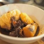 味坊鉄鍋荘 - 红焖羊肉の取り分け後