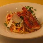 ビルーチェ - バヴェッテイ 季節野菜とエビのソース