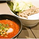 つけ麺 五ノ神製作所 - エビ肉入りつけ麺(小盛り)+味玉 1000円 エビ感溢れるつけ麺です♪