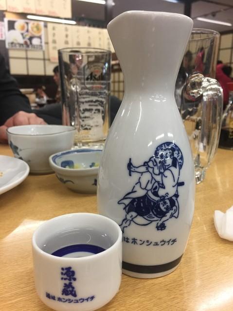源蔵 バスセンター店 - Dec2016 ぬる燗大