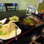 笠食紀 - ランチ:台湾ラーメン+焼飯セット800円