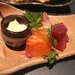平林亭  展望閣 - 生湯葉と旬魚のお刺身3種盛り