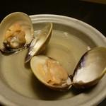 魚重楼 - 蛤の陶板焼き