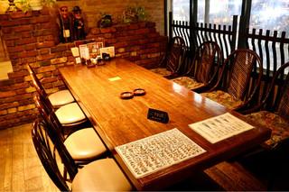 古艪帆来 - 広めのテーブル席