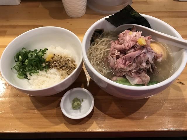 真鯛らーめん 麺魚 - 【2016.12.24】特製真鯛らーめん¥1050+真鯛雑炊丼小¥200