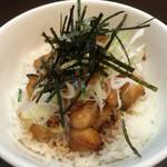 麺屋りゅう - 週替わり丼(ぼんじり丼)(アップ)
