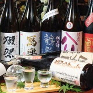 <日本酒を楽しもう>地酒3種利き酒飲み比べが人気。種類も豊富