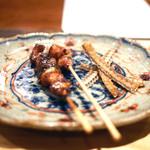 翏 - 鰻のヒレ焼き、肝焼き、骨煎餅