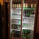 大阪焼トンセンター - 酒、ビールはセルフです。 スタッフに一声かけてくださいw