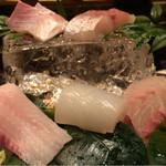 粋魚 むらばやし - コースの刺身盛り