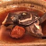 60696177 - コースの煮魚は石鯛