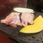薩摩のくつろぎ酒場 わびさび - 地鶏の溶岩焼き
