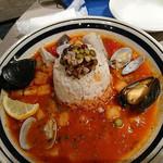 カフェ バイ ザ シー - 10種の穀物と魚介のトマトリゾット