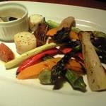 ごちそう さん・ら - カラフルグリルされたいろいろ野菜を楽しめるバーニャカウダ