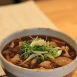 横濱蕎麦 傳介 - 寄せ豆腐きのこ餡 すごいボリュームです