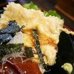 くろば亭 - ほほ肉の天ぷら(トロ天)