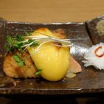 別邸 竹の庵 - 秋鮭と焼き林檎重ね焼き