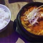 COCO Chiken & Ribs - 日替わりチゲ+ライス