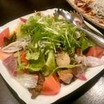 全席個室 楽蔵 - 海鮮炙り楽蔵サラダ