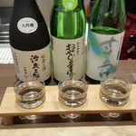 金沢地酒蔵 - 能登のお酒、三種です