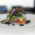 東洋軒 - 前菜:真鯛のカルパッチョ キャビア添え
