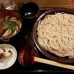 蕎麦人 弁慶 - 【2016/12】鴨汁せいろ(2玉)+焼き鯖寿司