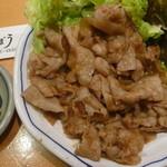 郷土料理 でくのぼう - 豚ばらスタミナ源タレ焼(たれ)税抜き850円
