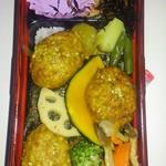 60711086 - 彩り野菜のつくねのっけ弁当
