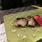 60711276 - ほろほろどりの砂肝とイチゴ、バルサミコ_2016/12