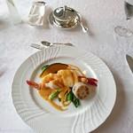 西洋堂 - 料理写真:魚料理メイン、海老と舌平目のアントワネット