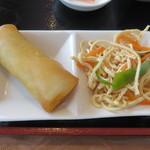 上海料理 蓮 - 湯葉細切りと春巻き