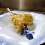 なな治 - 串揚げ 7串 シャインマスカット、アンチョビバター 豆のクリームコロッケ