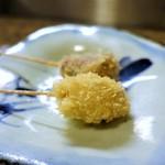 60719498 - 串揚げ 7串                       芋とくるみ                       マッシュルーム