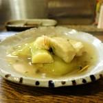 なな治 - 海老芋と秋茄子のくず煮