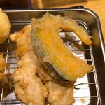 天ぷらめし 天之助 - かぼちゃ、鶏