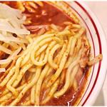 蒙古タンメン中本 - ぶっとい麺が唐辛子まみれに…これよコレコレ。
