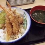 さん天 - 料理写真:えび天丼