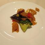 崎陽軒本店 嘉宮 - 旬彩コース④春野菜とカレイ、真イカのソテー