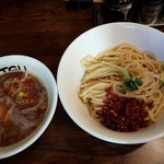 つけめんTETSU - 【2017/1】辛つけ麺+味玉