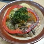 神戸ちゃんこ部屋 - トマトちゃんこ鍋 1回戦め 薬味は黒胡椒