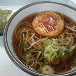 深川市役所 食堂 - 料理写真:かき揚げそば(350円)とおにぎり(150円)