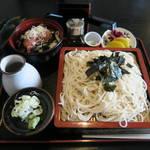 松美庵 - 料理写真:ざる蕎麦とミニねぎとろ丼のセット900円