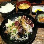 60741296 - タレたたき定食(7切れ)(1280円)
