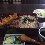 大むら - 料理写真:そば弁当(天丼)1050円