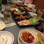 ソウルカルビ - 夜。座敷のほうで!めちゃ食べた