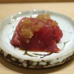 鮨 しゅん輔 - 鰹 おろし玉葱で