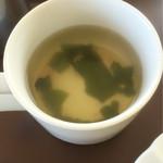 コーヒーショップ息吹樹 - スープ 普通です