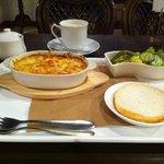 Cafe Rich - エビグラタンセットとカフェオレ